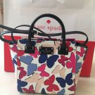 Kate Spade Leather Camryn Satchel Shoulder Bag Crossbody Butterfly Print