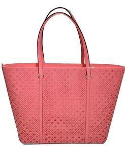 Kate Spade Newbury Dally XL Leather Tote Shoulder Bag Perforated Flamingo Pink