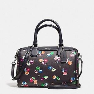 Coach Wildflower Mini Bennett Satchel Shoulder Bag Crossbody Leather Multi-Color