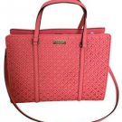 Kate Spade Romy Leather Medium Satchel Shoulder Bag Crossbody Flamingo Pink