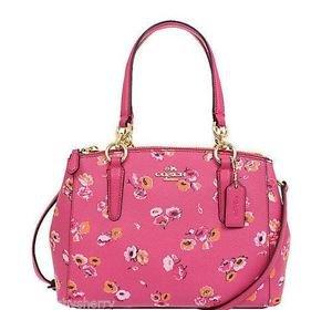 Coach Mini Christie Small Sachel Shoulder Bag Crossbody Pink Wildflower Floral