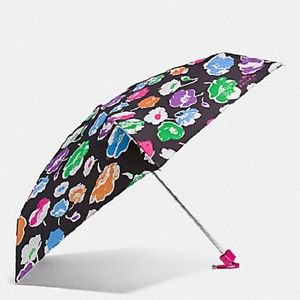 Coach Exploded Wildflower Rainbow Print Mini Umbrella Retractable Floral Flowers