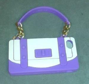 NIB Rolf  Handbag Shape Cell Phone Case for Iphone 4S & 4G Purple Nude Beige
