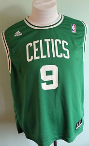 03d061a4b34 Adidas NBA Jersey Boston Celtics Rajon Rondo  9 Green Size XL