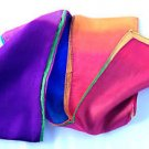 """MULTI COLOR SILK STREAMER Production Prop Magic Trick 4"""" x 9' Foot Long FT NEW"""