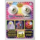 COLOR CHANGING LED EYEBALLS PROP Flashing Light Up Halloween Mask 2 Eyes Skull