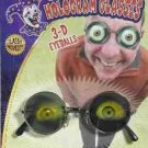 HOLOGRAM GLASSES 3-D Eyeball Eyes Poker Gift Costume Sunglasses Goggles Joke NEW