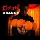 "4 ELECTRIC ORANGE 2"" SPONGE BALLS Magician Magic Trick Set Foam Street Close Up"