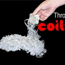 25' FT LARGE WHITE THROW COILS 10 Pack Paper Streamer Magic Trick Set Production