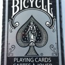 1 BICYCLE SILVER EDITION DECK of Playing Cards Poker Game Black Magic Tricks