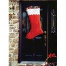 """SUPER JUMBO CHRISTMAS STOCKING 34"""" Red White Felt Sock Gift Santa Bag Big Giant"""