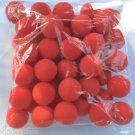 "1 Lot 50 RED SPONGE BALLS 2"" Size Bag Pack Magic Trick Clown Foam Magician Set"