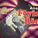 Black LEATHER FLYING RING WALLET Pocket Purse Magic Trick Flight Key Case Reel