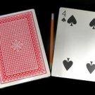 "JUMBO TWO CARD MONTE 2 Magic Trick Con Game 5"" x 7"" Set"