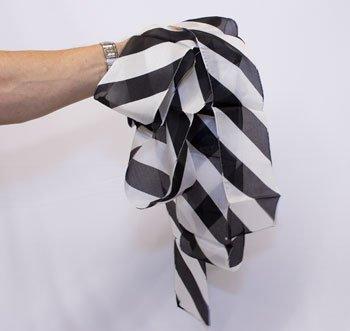 ZEBRA SILK STREAMER Black White Stripes Striped 4'' x 16' Magic Trick Magician