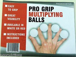 Deluxe RUBBER WHITE PRO GRIP MULTIPLYING BILLIARD BALLS Magic Trick Set Gorilla