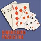 DIMINISHING PREDICTION Card Magic Trick Set Shrinks NEW