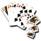 DIMINISHING BICYCLE PLAYING CARDS FAN 5 Times Change Magic Trick Shrinking Mini