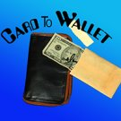 ZIPPER CARD TO WALLET Leather Pocket Magic Trick Street