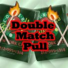 DOUBLE LIT MATCH PULL PRODUCER Metal Magic Trick Fire Light Gimmick Lapel Pocket