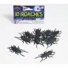 Lot of 10 COCKROACHES Plastic Roach Bugs Fake Prank Joke Cockroach SET Bag Gag