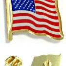 USA FLAG LAPEL PIN Jacket Jewelry American US Old Glory Stars and Stripes Brass