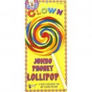 """1 JUMBO 9"""" PHONEY LOLLIPOP Rainbow Pop Clown Sucker Fake Joke Plastic Prop Baby"""
