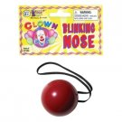 Red LITE-UP BLINKING FLASHING CLOWN NOSE Ball Rudolph Reindeer Light Costume Gag