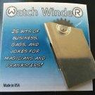 ROYAL WATCH WINDER Magic Trick Joke Gag Sound Effect Metal Gimmick Neck Cracker