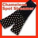 CHAMELEON SPOT SILK STREAMER Magic Trick Magician Scarf Black White Polka Dot