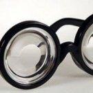 12 Pack FUNNY NERD GEEK GLASSES Dork Thick Lenses Costume Joke Toy Black Plastic