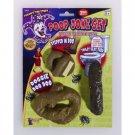 FAKE POOP SET TOILET SEAT TURD CRAP POO Joke Prank Doo Gag Dog Human Rubber Prop