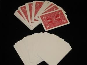 100 Pack BLANK FACE BICYCLE CARDS Business Magic Trick 3 Three Monte Playing Set