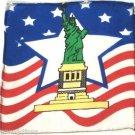 "9"" VANISHING STATUE OF LIBERTY 2 SILK SET Magic Trick Patriotic Thumb Tip Vanish"