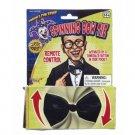 BLACK SPINNING BOWTIE Clown Bow Tie Spins Tuxedo Funny Joke Gag Trick Battery