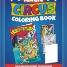 "POCKET SIZE COLORING BOOK of CIRCUS MAGIC Trick 4""x5"" Clown Kid EZ Beginner Toy"