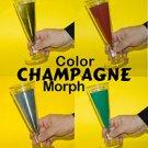 CHAMPAGNE COLOR MORPH GLASS 4 Liquid Changes Stage Magic Trick Plastic Chameleon