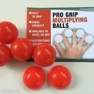 Deluxe RUBBER RED PRO GRIP MULTIPLYING BILLIARD BALLS Magic Trick Set Gorilla