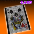 TRANSPORTING CARD Changes Signed Magic Trick Pocket Print Plastic Sleeve Holder