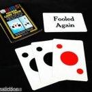 Comedy SUCKER MAGIC CARD TRICK Set Playing Joke Gag Fooled Again Beginner Spot