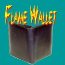 MAGNET HOT FIRE LEATHER WALLET Magic Trick Flame Flaming Money Street Magnetic