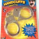 Kids METAL TOY HANDCUFFS Police Set Cop Costume Harry Houdini Shackles + Keys