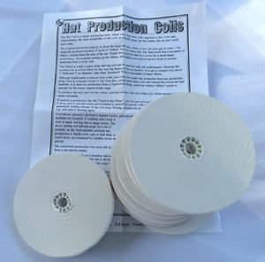 8 Pack WHITE HAT COILS Streamer Paper Ribbon Magic Trick Production Gag Set Top