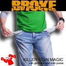 BROKE With COIN PURSE Magic Trick Pocket Money Close Up Broken Quarter Restores