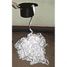 1 WHITE HAT COIL Streamer Paper Ribbon Magic Trick Production Top From Newspaper