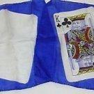 "THUMB TIP 8"" CARD SILKS King of Clubs Set Magic Trick Blank KC Pair Close Up Gag"