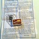 LOCKING CARD TO MATCH BOX Pocket Magic Trick Beginner Folding Magnetic Appearing