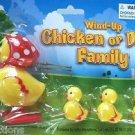 WIND UP WALKING CHICKEN DUCK SET Peeps Chicks Follow Mom In A Row Joke Toy Gag