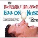 BALANCING EGG ON NOSE Balance Magic Trick Stunt Clown Kid Show Gag Joke Prank