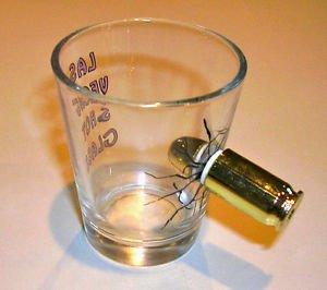 FAKE BULLET THRU SHOT GLASS Las Vegas Joke Gag Prank Trick Bar Poker Party Funny